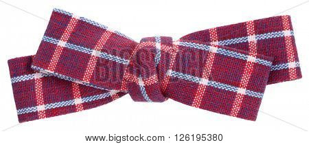 Purple pink sky blue plaid bow tie