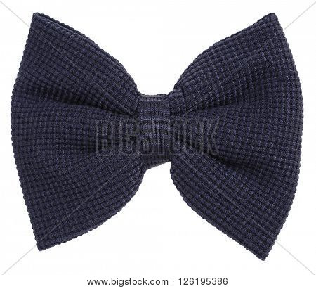 Dark blue knitted hair bow tie