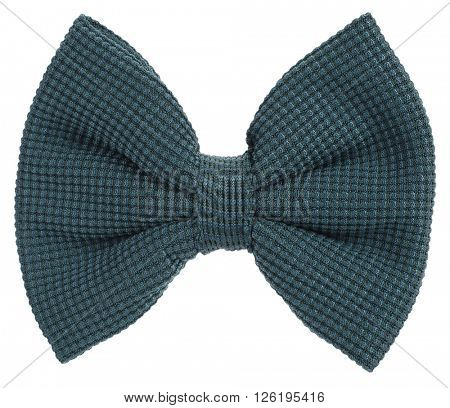 Dark green knitted bow tie
