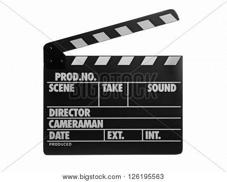Movie clapper isolated on white