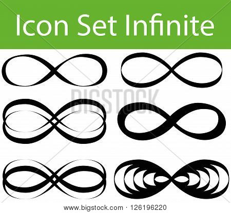 Icon Set Infinite with 6 icons for the creative use in graphic design
