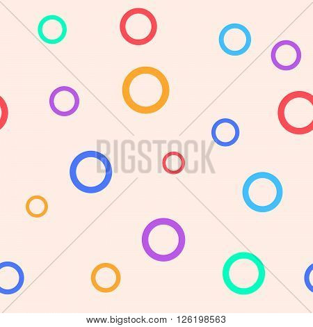 Simple seamless pattern with circles for children room. Vector illustration.
