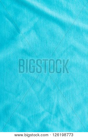 Close up of beautiful wrinkle green fabric texture.