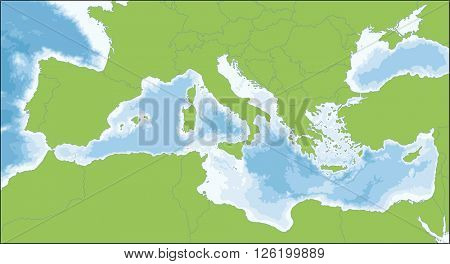 Mediterranean Sea map