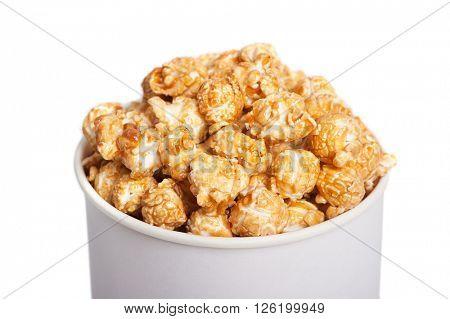 Popcorn bucket isolated on white background
