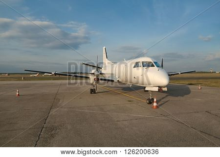 Small cargo aircraft on the ground