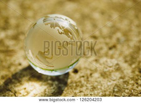 Glass Globe Model In Macro