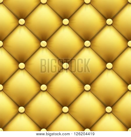 Seamless pattern. Retro luxury background. Leather upholstery. Stock vector illustration.
