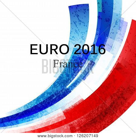 Euro 2016 France football championship with france flag colors. Vector illustration