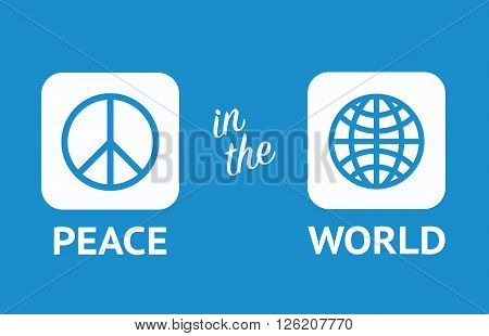 Peace in the world peace day 2015. Peace motivator