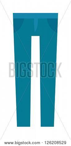 Cartoon jeans trousers details silhouettes of denim menswear