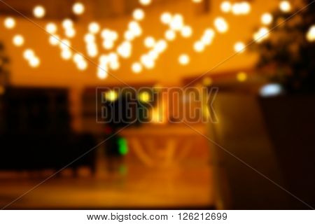 Blurred background of waiting area in a hotel