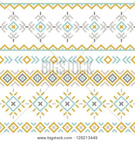 seamless pattern with ethnic ornament