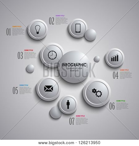 Info graphic with abstract design gray bubbles template vector eps 10