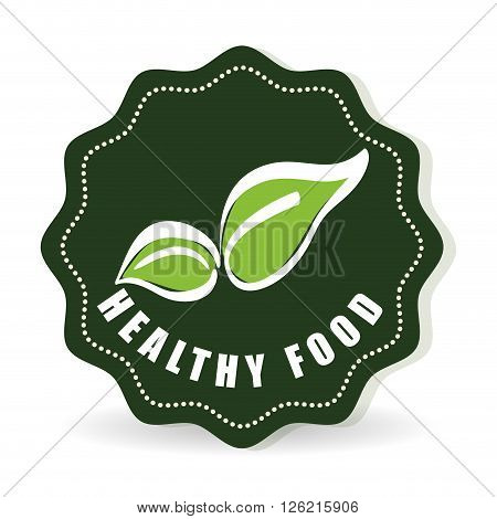 organic food concept with icon design, vector illustration 10 eps graphic.