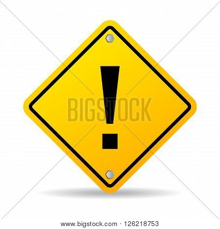 Danger exclamation sign isolated on white background