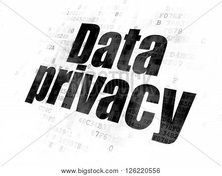 Privacy concept: Data Privacy on Digital background