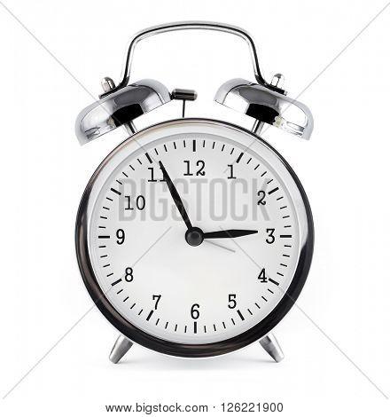 alarm clock, isolated on white background.