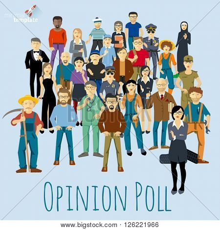 People opinion vector mock up.