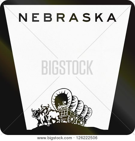 Blank Nebraska Highway Route Shield Used In The Us