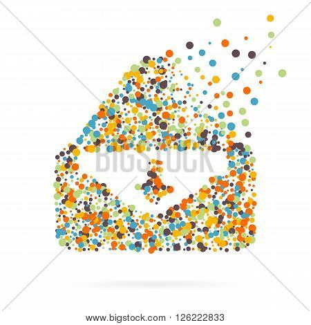 Abstract creative concept vector icon of envelope for Web and Mobile app isolated on background. Art illustration template design, Business infographic and social media, digital flat silhoette