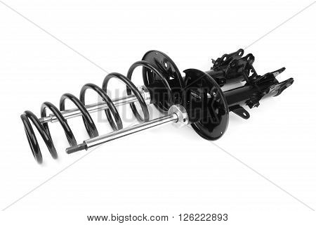 shock absorber suspension isolated on white background