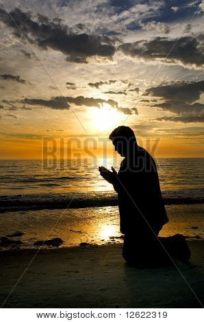 Praying At The Sea