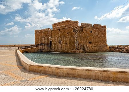 Paphos Castle represents one of the most distinctive landmarks of the city of Paphos Cyprus
