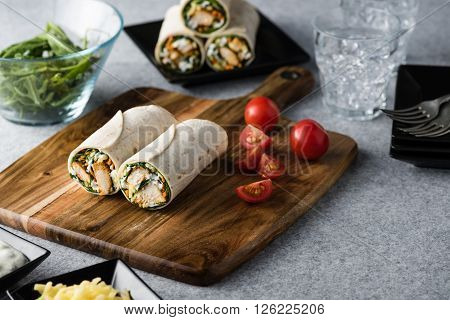 Tandoori Chicken Wrap With Tzatziki