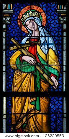 Stained Glass - Saint Joanna In Prague Cathedral