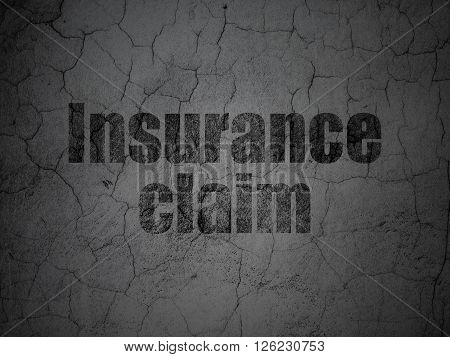 Insurance concept: Insurance Claim on grunge wall background