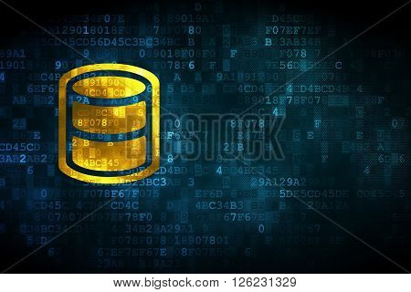 Software concept: Database on digital background