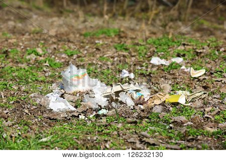 Pile of garbage outdoors