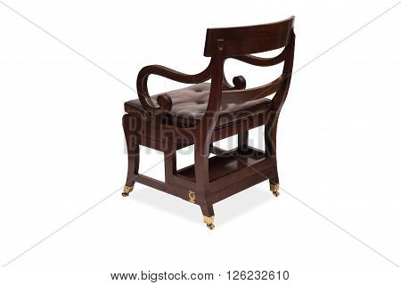Rear View Of An Antique Wooden Armchair