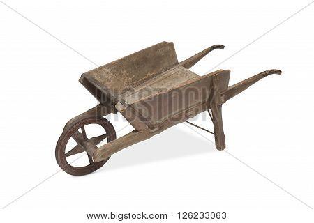 A Vintage Wooden Wheel Barrow