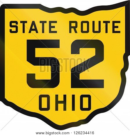 Historic Ohio Highway Route Shield From 1920 Used In The Us