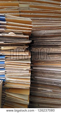 The paper Division prepared for delivery to Sell.Vertical Picture.