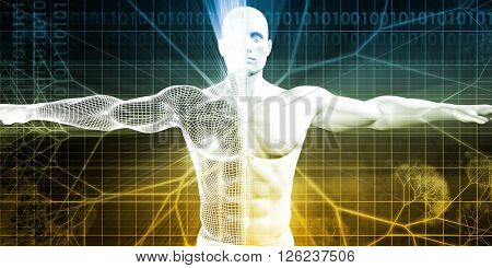 Epigenetics as a Science Study Field of Genetics 3D Illustration Render