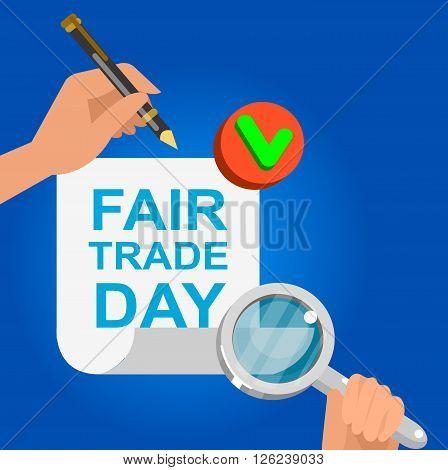 Digitally generated Fair Trade. Vector illustration flat