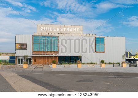 SCHEVENINGEN NETHERLANDS - OCTOBER 3 2015: Exterior or the Zuiderstrand Theater the residence of The Hague Philharmonic