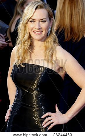 Kate Winslet at the 88th Annual Academy Awards held at the Dolby Theatre in Hollywood, USA on February 28, 2016.