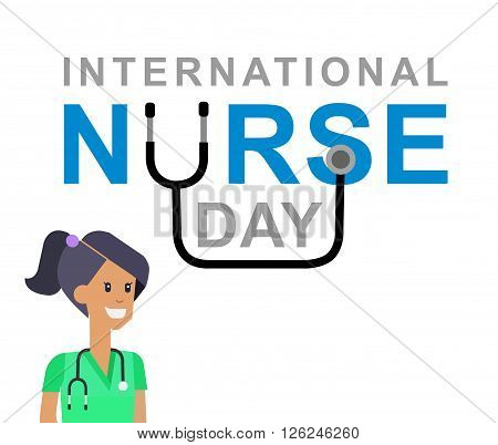 Vector illustration for International Nurse Day. Vector illustration for Nurse Day. Poster Nurse Day