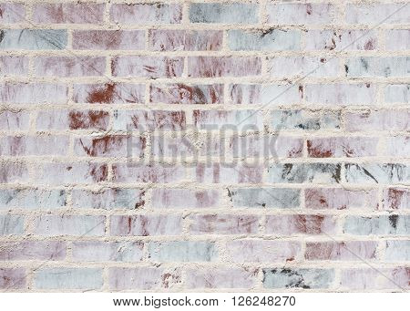 A whitewashed brick wall texture