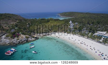 aerial view of racha island harbor andaman sea phuket southern of thailand