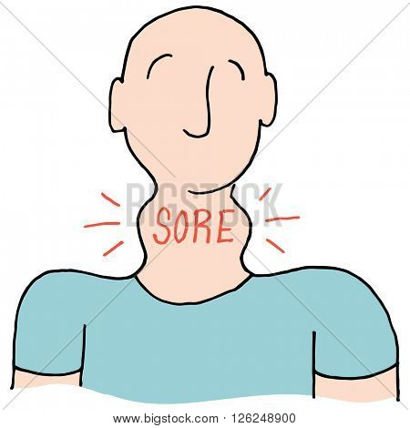 An image of a Man with a sore throat.