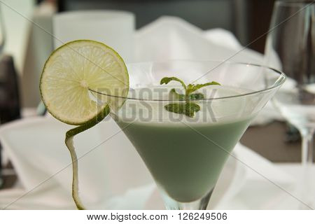 Refreshing cold Mint Julep Cocktail juice summer