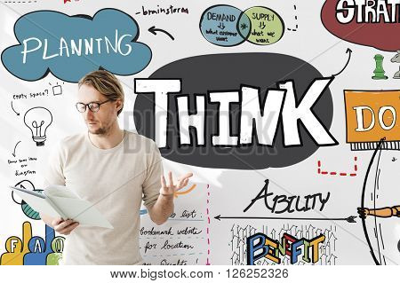 Think Plan Planning Thoughts Determination Concept