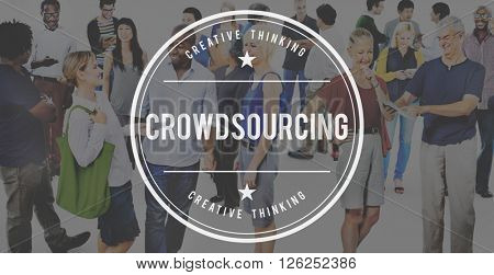 Crowd sourcing Collaboration Community Group Concept