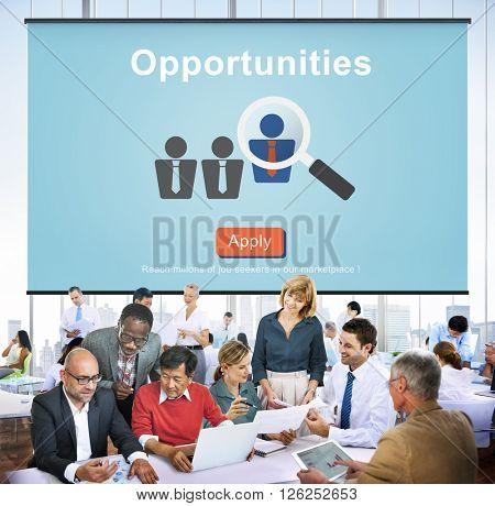 Opportunities Chance Choice Achievement Impossible Concept