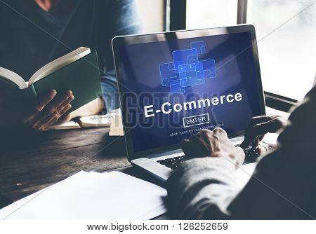 E-Commerce Marketing Online Register Enter Technology Concept